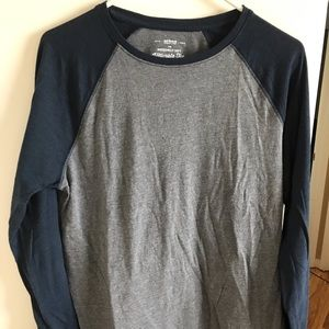 Blue and grey urban pipeline long sleeve shirt
